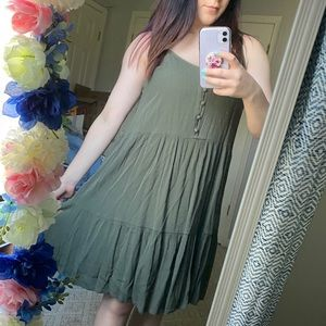 Mossing Army Green Dress